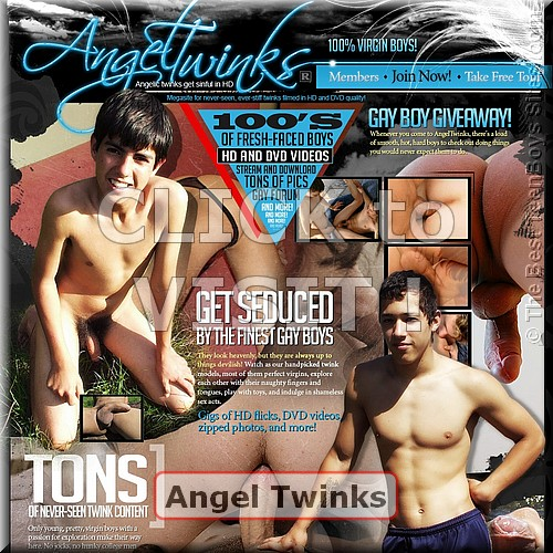 Screen capture of Angel Twinks (site with teenagers nude, having sex)