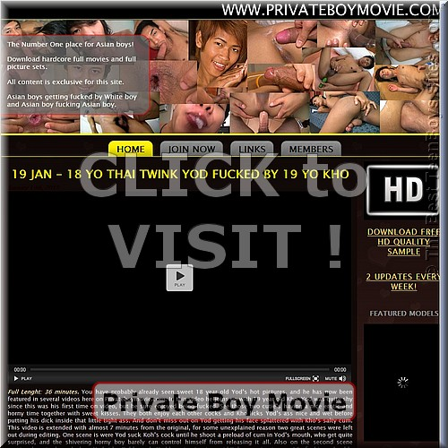 Screen capture of Private Boy Movie  (site with teenagers nude, having sex)